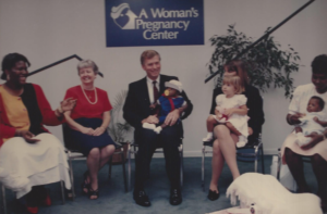 Quayle at A Woman's Pregnancy Center