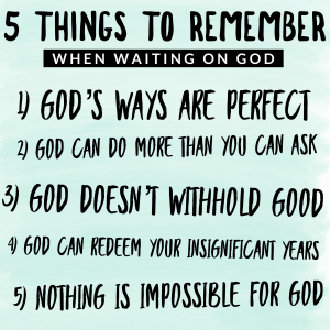 5 Things to Remember